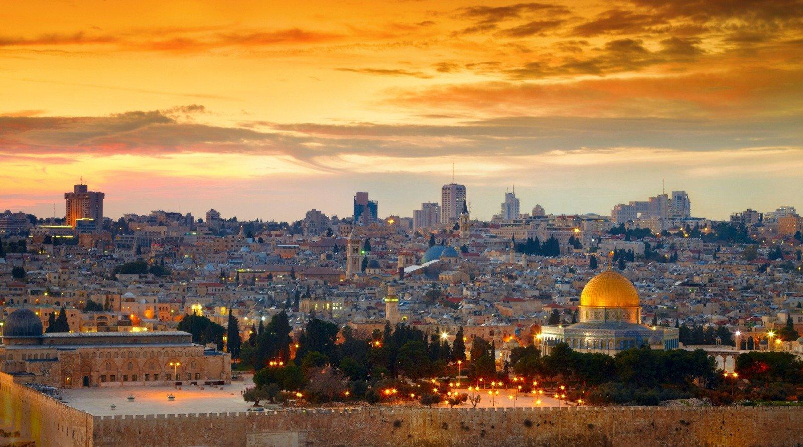 Panorama of Jerusalem Israel
