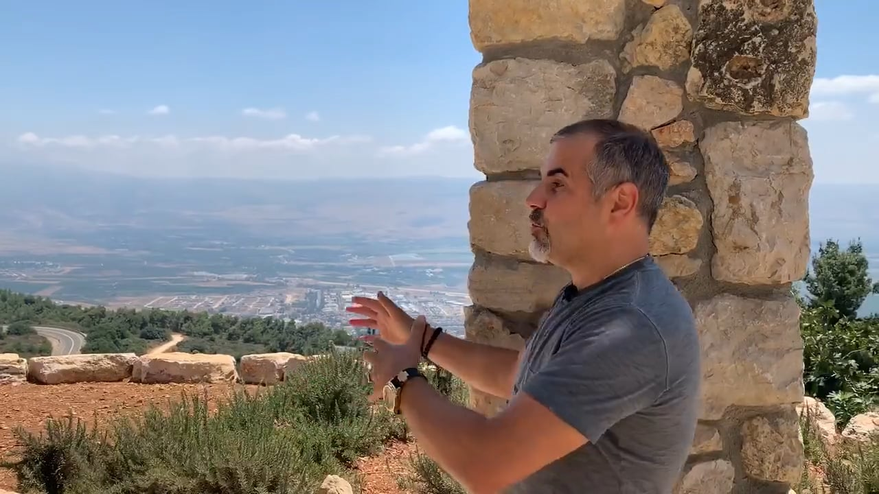 Pastor Israel Standing on the Roof of Crusaders Fortress Praying Protection Over Border