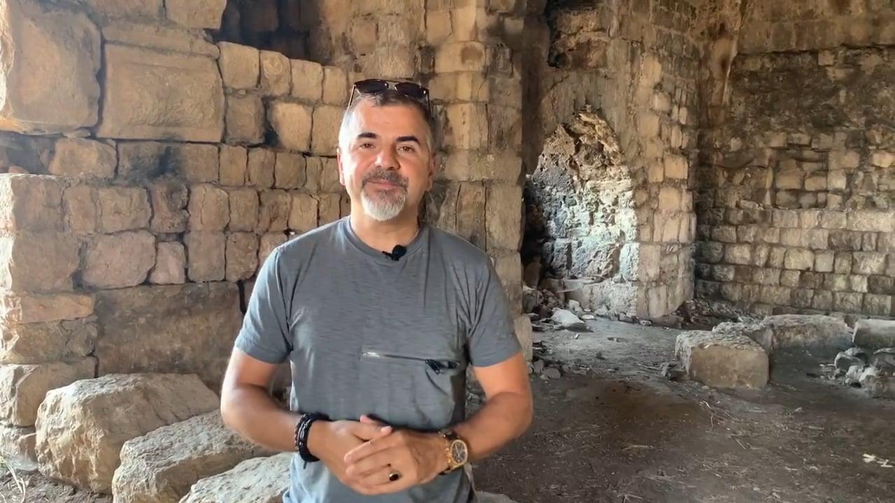 At the Hills of Naftali at 1100 Year Old Crusaders Fortress